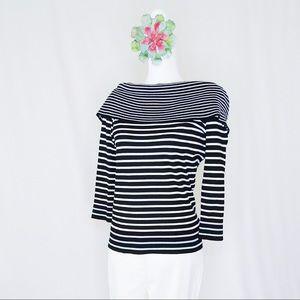 Striped Tommy Hilfiger Off The Shoulder Sweater M